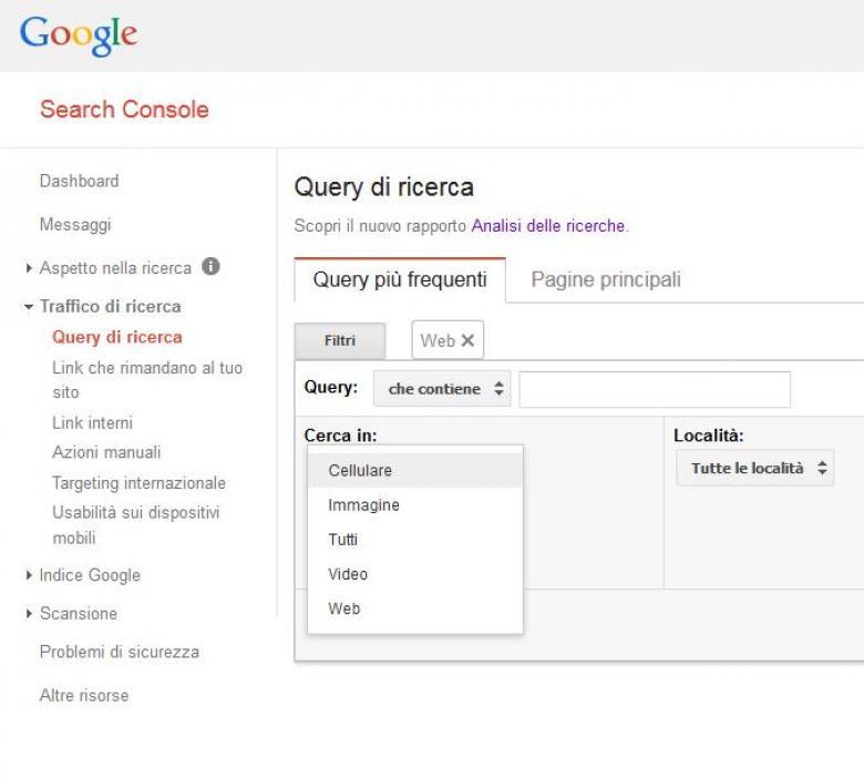 search console di google