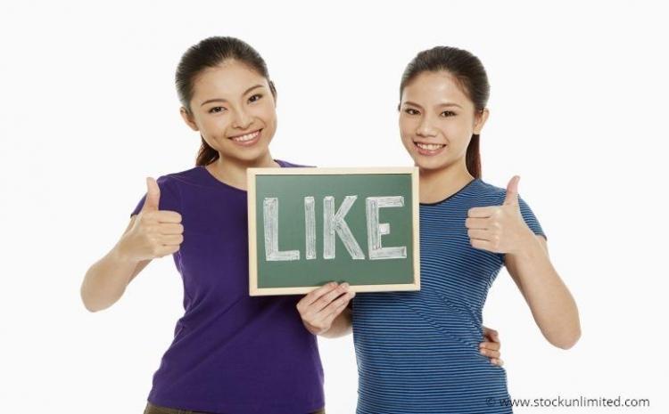 Reazione like di Facebook